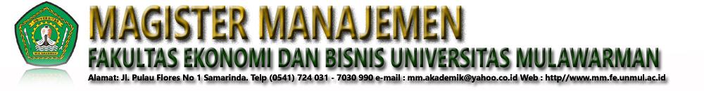 Magister Manajemen │ Universitas Mulawarman